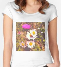 Wildflower 2 Women's Fitted Scoop T-Shirt