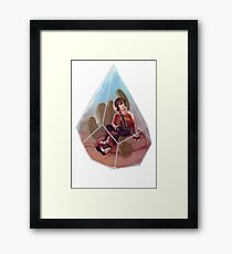 Paladin Terrarium - Red Framed Print