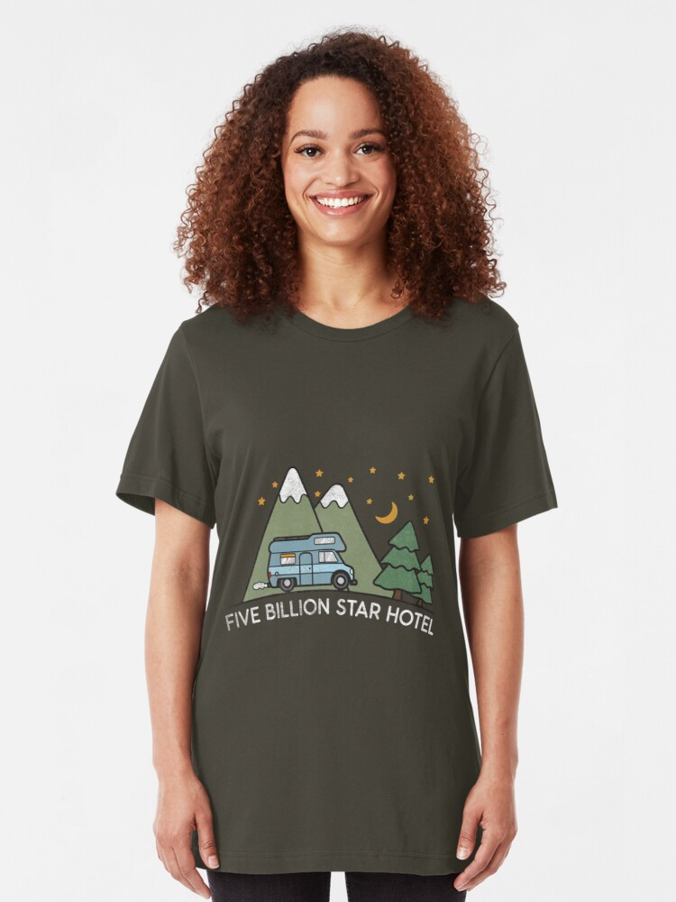 Alternative Ansicht von Campervan: 5 Billion Star Hotel Camping Gift Slim Fit T-Shirt