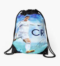 Cristiano Ronaldo sign Drawstring Bag