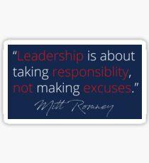 Mitt Romney: Leadership Sticker