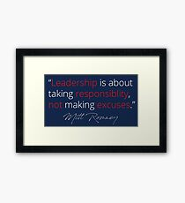 Mitt Romney: Leadership Framed Print