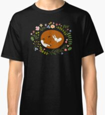 Friendship Fox-Rabbit_BgBlack Classic T-Shirt