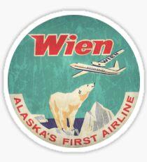 Wien Air Alaska's first airline Sticker