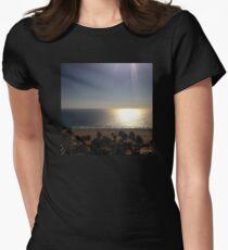 Sunlight over Santa Monica Beach Women's Fitted T-Shirt