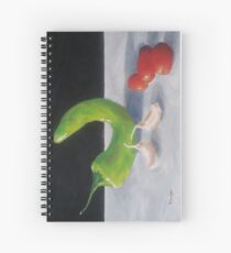 Chile Pepper, Garlic, and Tomatoes Spiral Notebook