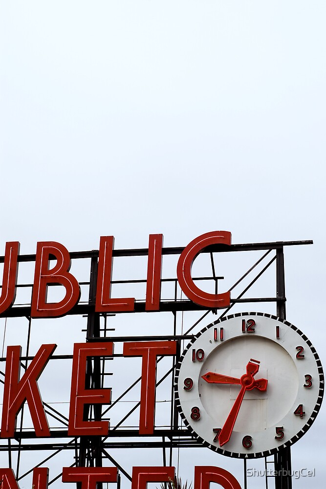 Pike Place Market Sign by ShutterbugCel