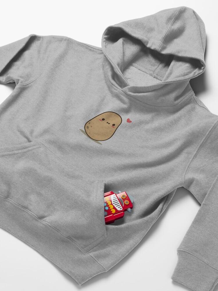 Alternate view of Cute Potato in love Kids Pullover Hoodie