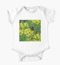 Honeybee Meadow Flowers One Piece - Short Sleeve