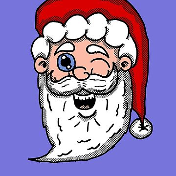 Winking Santa Head  by Rajee