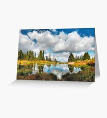 Closing my Eyes to Vividly Remember Autumn Greeting Card