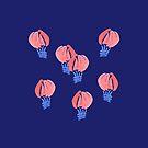 Air Balloons on Midnight Blue by Elena Simonova