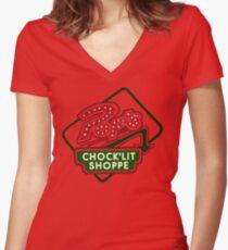 Pop's Chock'lit Shoppe (Light) Women's Fitted V-Neck T-Shirt