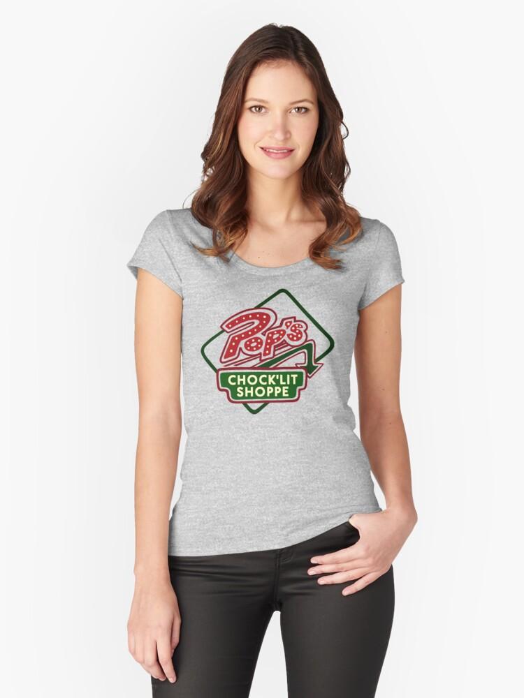 Pop's Chock'lit Shoppe (Light) Women's Fitted Scoop T-Shirt Front