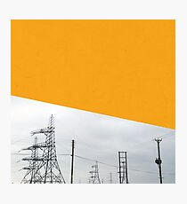 Orange Pylons Photographic Print