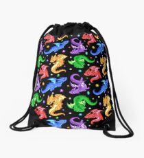 Gem Dragon Pattern Drawstring Bag