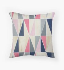 Triangles with Grey Throw Pillow