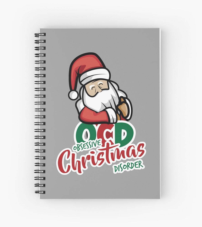 OCD Obsessive Christmas Disorder Santa Xmas Gift\
