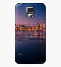 Chicago Skyline with reflections at dusk Case/Skin for Samsung Galaxy