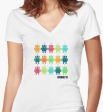 Part of 15 Women's Fitted V-Neck T-Shirt