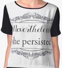 She Persisted -- light (ACLU benefit) Women's Chiffon Top