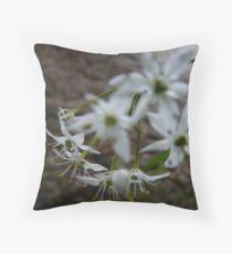 Garlic Chive Flowers Throw Pillow