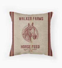 Walker Farms Horse Feed Vintage Sack Throw Pillow