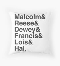 Malcolm In The Middle Characters Throw Pillow