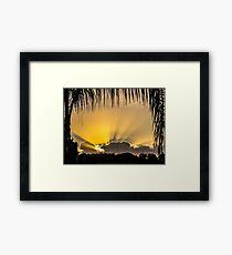Sun Out Through The Cloud Framed Print