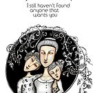 No you're not adopted card by Jenny Wood