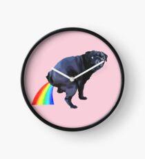 Pug Rainbow Clock