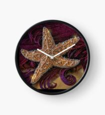 Starfish and Feathers Clock