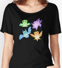Pastel Owl Collection - Feetsies Women's Relaxed Fit T-Shirt