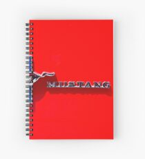 Red Mustang Spiral Notebook