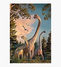 Brachiosaurus Spaziergang Fotodruck