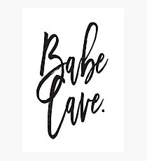 Babe Cave... Photographic Print