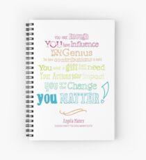 You Matter Manifesto Notebook Spiral Notebook