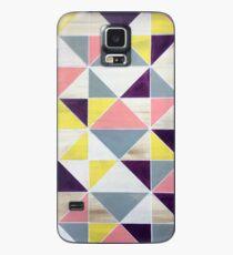 Yellow Purple Geo Case/Skin for Samsung Galaxy