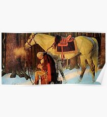 George Washington Praying Painting Poster