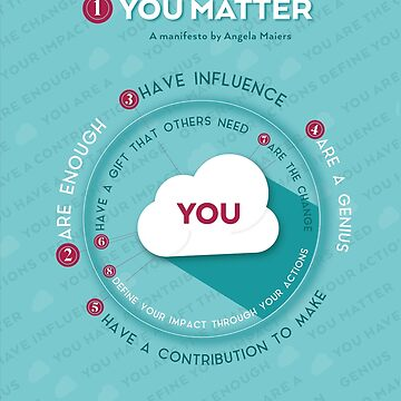 You Matter Manifesto Notebook by Choose2Matter