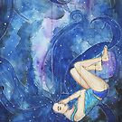 Sweet dreams: Watercolor Painting by brabikate