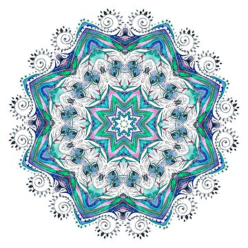 Beautiful card with mandala by anvino