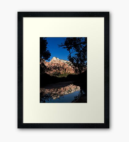 Kayenta Trail 2 - Zion National Park  Framed Print