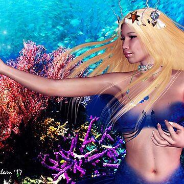 Underwater Mermaid Babe # 3 by FractalKing