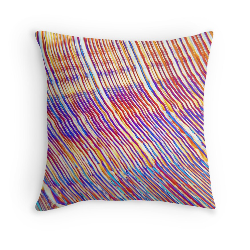 symmetry magnesium sulfate under the microscope throw pillows by zosimus redbubble. Black Bedroom Furniture Sets. Home Design Ideas