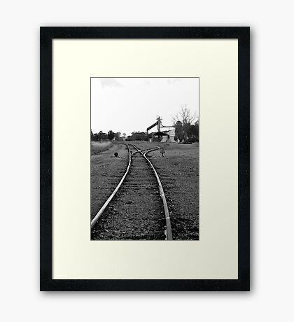 to the siding Framed Print