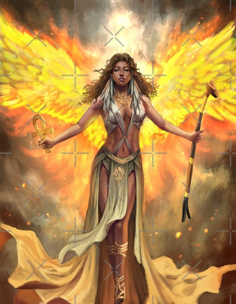Fire Phoenix Ma'at by NDJones