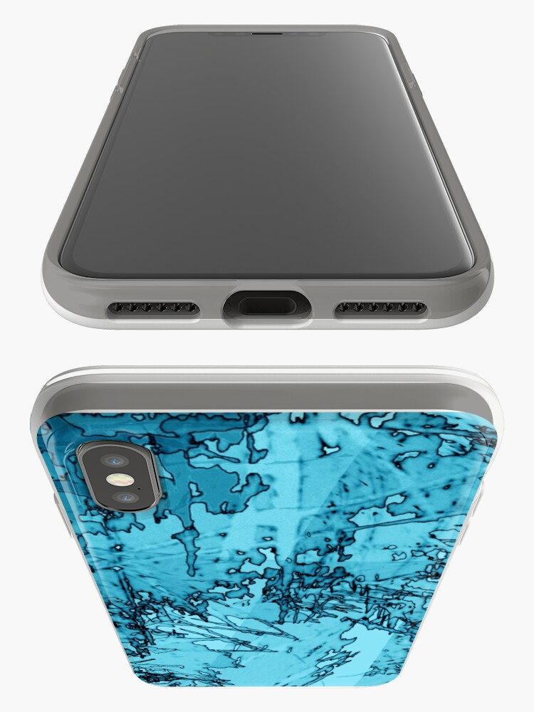 Alternate view of Edgy Turquoise iPhone Case & Cover