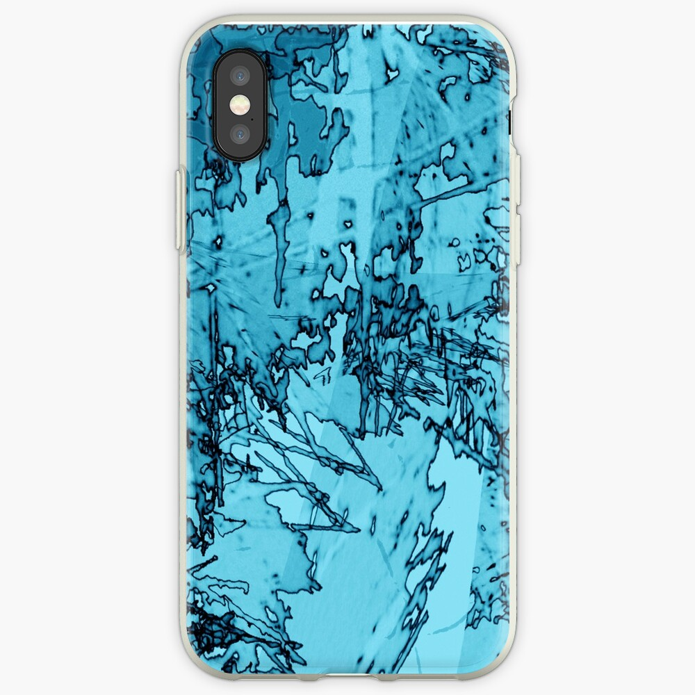 Edgy Turquoise iPhone Case & Cover