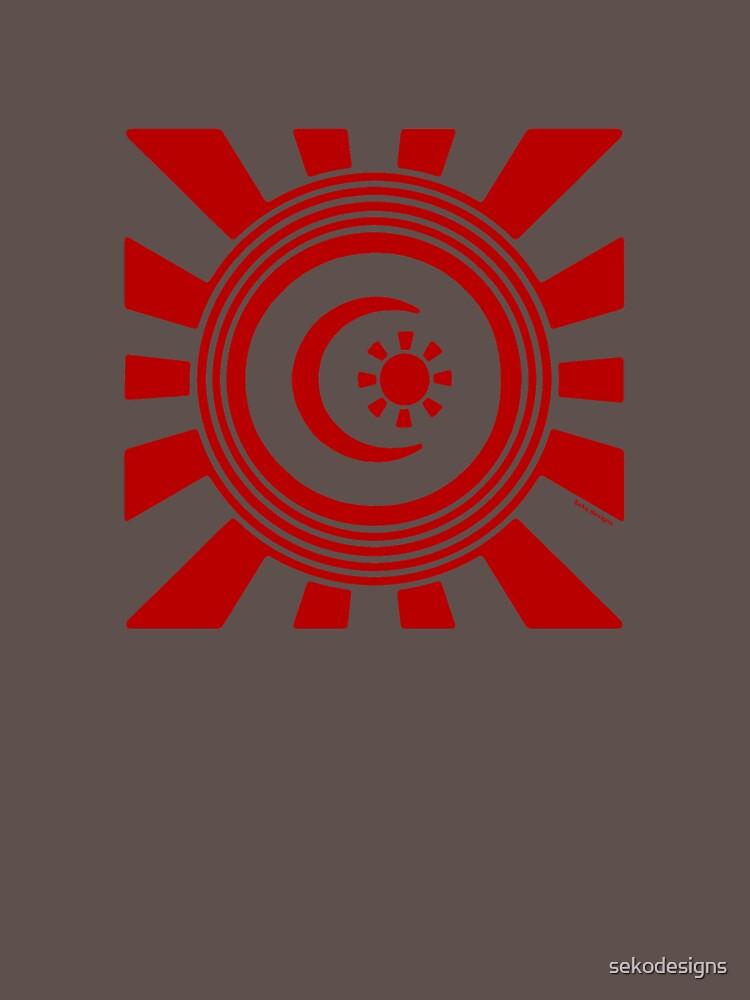 Mandala 34 Colour Me Red by sekodesigns